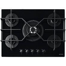 Buy John Lewis JLBIGGH755 Gas Hob, Black Online at johnlewis.com