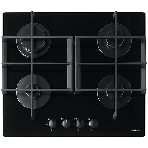 Buy John Lewis JLBIGGH605 Gas Hob, Black Online at johnlewis.com