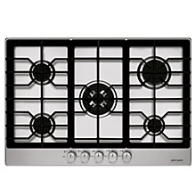 Buy John Lewis JLBIGH753 Gas Hob, Stainless Steel Online at johnlewis.com
