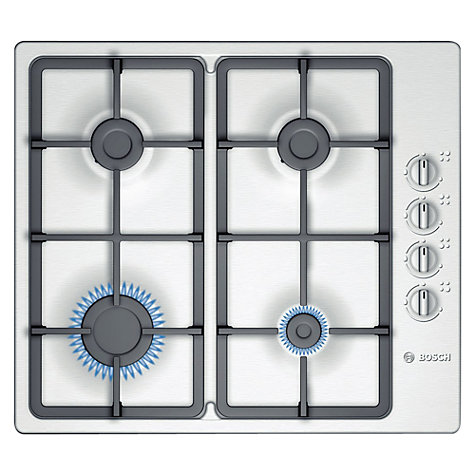 Buy Bosch PBP615B90E Gas Hob, Stainless Steel Online at johnlewis.com