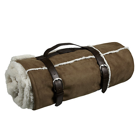 Buy John Lewis Alfie Faux Suede Throw, Tan Online at johnlewis.com