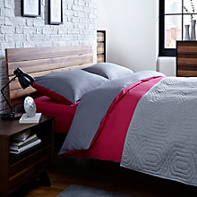 Buy House by John Lewis Reversible Duvet Cover, Pillowcase and Fitted Sheet Set Online at johnlewis.com