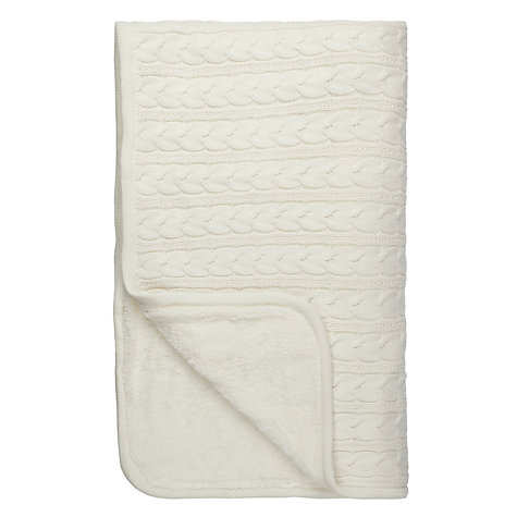 Buy John Lewis Knit Faux Shearling Throw Online at johnlewis.com