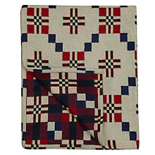 Buy Melin Tregwynt St David's Cross Lambswool Throw Online at johnlewis.com