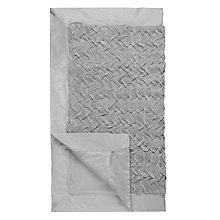Buy Nitin Goyal Pleated Runner Throw, Pearl Online at johnlewis.com