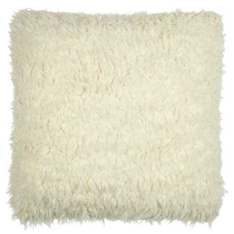 Buy John Lewis Faux Shearling Woolly Cushion Online at johnlewis.com