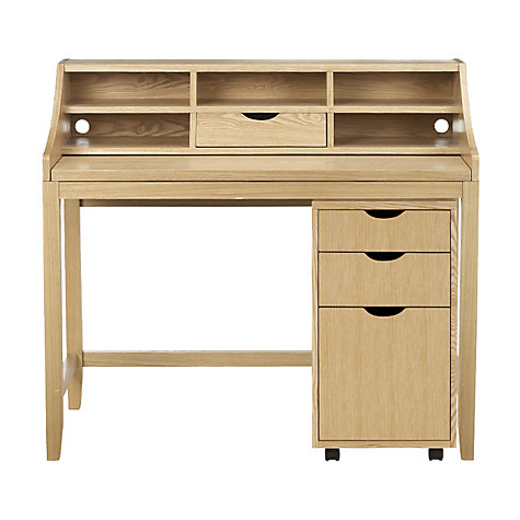 Buy John Lewis Loft Desk and Filing Cabinet, Ash Online at johnlewis.com