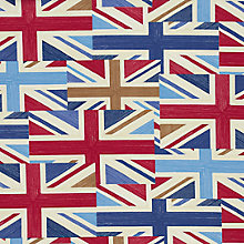Buy John Lewis Union Jack Print Fabric, Blue Multi Online at johnlewis.com