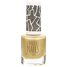 Buy TOPSHOP Nails - Crackle Topcoat Online at johnlewis.com