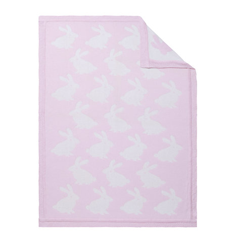 Buy John Lewis Rabbit Pram Baby Blanket, Pink Online at johnlewis.com