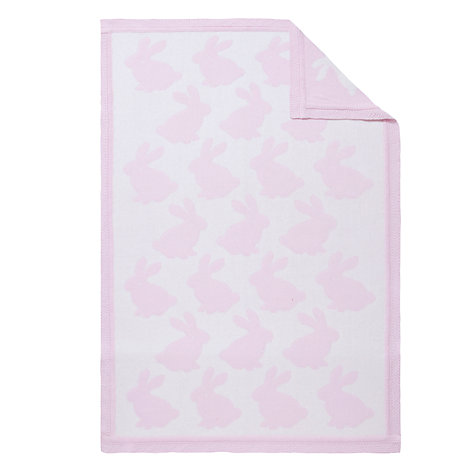 Buy John Lewis Rabbit Pram Blanket, Pink Online at johnlewis.com