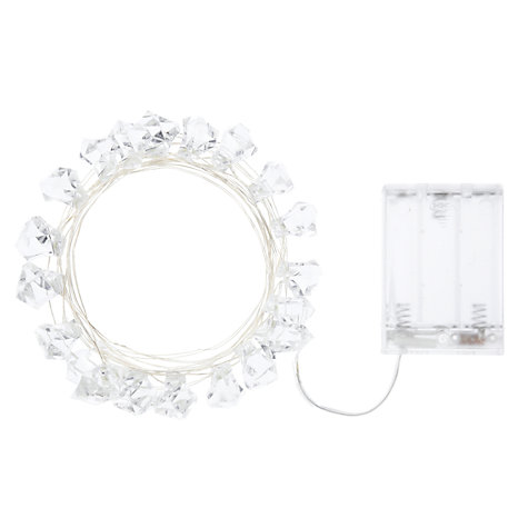 Buy John Lewis Indoor Battery Operated LED Fine Wire Christmas Line Lights, x20, White Online at johnlewis.com