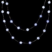 Buy John Lewis Indoor Battery Operated LED Fine Wire Snowflake Line Lights, White, x20 Online at johnlewis.com