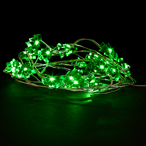 Buy John Lewis Indoor Battery Operated LED Fine Wire Tree Christmas Line Lights, x20, Green Online at johnlewis.com