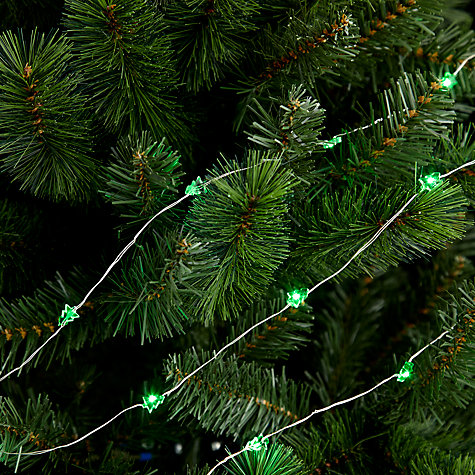 Buy John Lewis Indoor Battery Operated LED Fine Wire Tree Line Lights, x20, Green Online at johnlewis.com