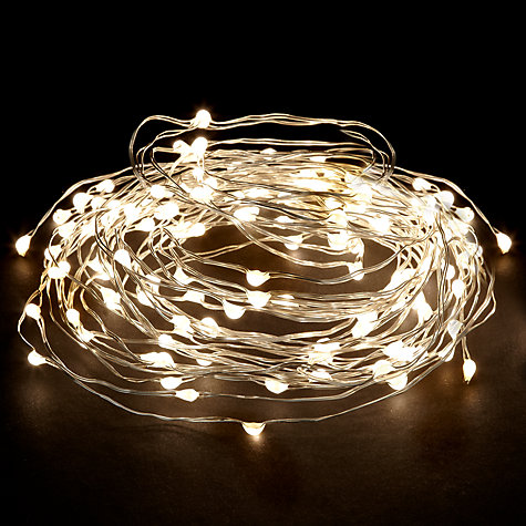 Buy John Lewis LED Waterfall Christmas Lights, White, x160 Online at johnlewis.com