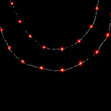 Buy John Lewis Indoor Battery operated LED Fine Wire Heart Line Lights, x20, Red Online at johnlewis.com