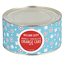 Buy William Lusty Double Chocolate Orange Cake, 700g Online at johnlewis.com
