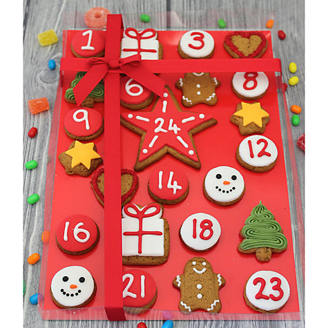 Buy Image on Food Iced Gingerbread Advent Calendar, 325g Online at johnlewis.com