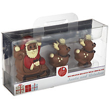 Buy Natalie Chocolates Santa and Reindeer Chocolate Set, 166g Online at johnlewis.com