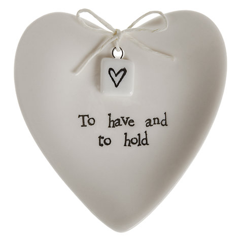 Buy East of India Wedding Ring Heart Dish in a Box Online at johnlewis.com