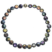 Buy A B Davis Cultured River Pearl Black Coin Necklace Online at johnlewis.com