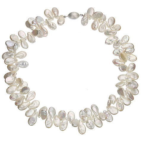 Buy A B Davis White Cultured River Pearl Teardrop Necklace Online at johnlewis.com