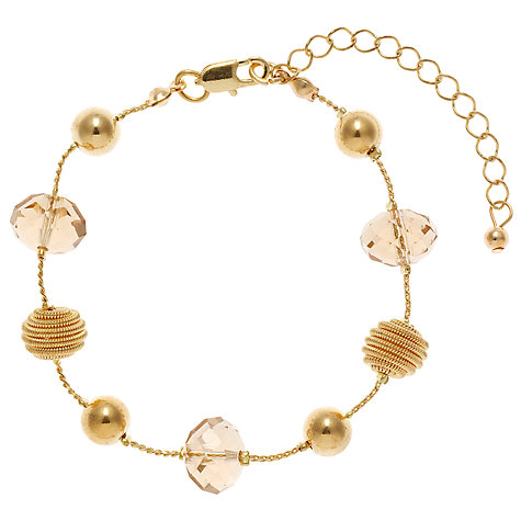 Buy John Lewis Coil and Acrylic Facet Glass Bead Bracelet Online at johnlewis.com