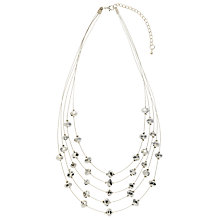 Buy John Lewis Facet Bead Illusion Multi Chain Necklace, Silver Online at johnlewis.com