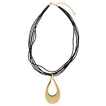Buy John Lewis Metal Open Tear Drop Pendant Necklace Online at johnlewis.com
