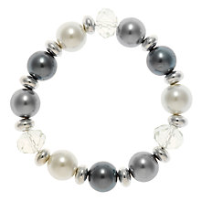 Buy John Lewis Silverfacetted Bead Stretch Online at johnlewis.com