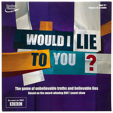Buy Would I Lie To You? Board Game Online at johnlewis.com