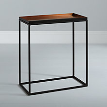 Buy Content by Conran Ractangular Tray Side Table, Metallic Online at johnlewis.com