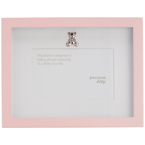 Buy John Lewis Baby Photograph Frame, Pink Online at johnlewis.com
