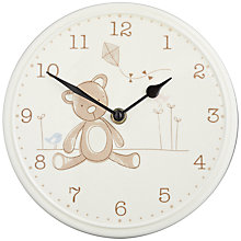 Buy John Lewis Ceramic Teddy Clock Online at johnlewis.com