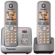 Buy Panasonic KX-TG6722EB Digital Telephone and Answering Machine, Twin DECT Online at johnlewis.com