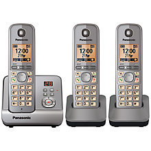 Buy Panasonic KX-TG6723EB Digital Telephone and Answering Machine, Trio DECT Online at johnlewis.com