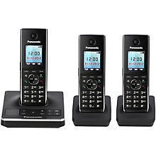 Buy Panasonic KX-TG8563EB Digital Telephone and Answering Machine, Trio DECT Online at johnlewis.com