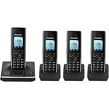 Buy Panasonic KX-TG8564EB Digital Telephone and Answering Machine, Quad DECT Online at johnlewis.com