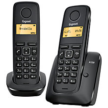 Buy Gigaset A120 Digital Telephone, Twin DECT, Black Online at johnlewis.com