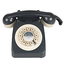 Buy Wild and Wolf 746 1960'S Corded Telephone, Grey Online at johnlewis.com