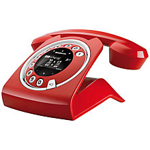 Buy Sagemcom Sixty Cordless Telephone and Answer Machine, Red Online at johnlewis.com