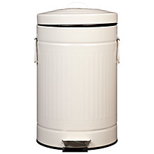 Buy John Lewis Ribbed Pedal Bin, 12L, Almond Online at johnlewis.com