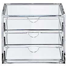 Buy Oscar 3 Drawer Acrylic Storage Unit, Small Online at johnlewis.com