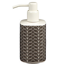 Buy Orla Kiely Linear Stem Soap Dispenser, Steel Online at johnlewis.com