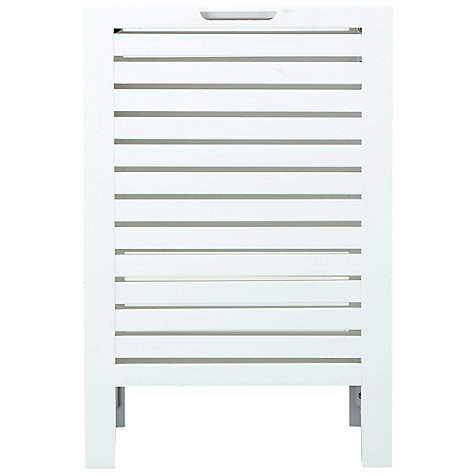 Buy John Lewis Newport Laundry Bin, White Online at johnlewis.com