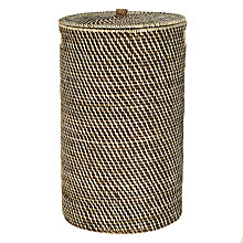 Buy John Lewis Round Rattan Laundry Barrel, Brown Online at johnlewis.com