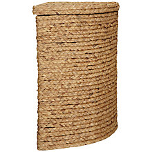 Buy John Lewis Water Hyacinth Corner Laundry Bin, Natural Online at johnlewis.com