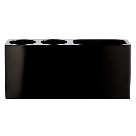 Buy John Lewis Ebony Electric Toothbrush Holder, Black Online at johnlewis.com