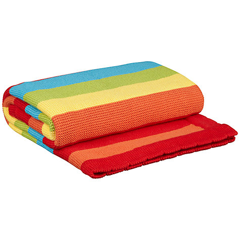 Buy John Lewis Striped Pram Blanket, Rainbow Online at johnlewis.com